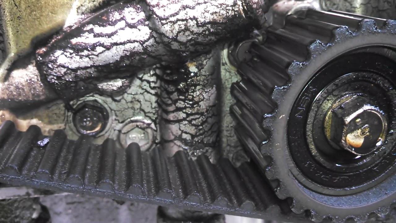 1997 subaru 2 2l engine timing belt oil leak [ 1280 x 720 Pixel ]