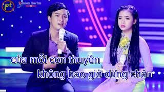 KARAOKE Em Cứ Theo Người 2 - Thiên Quang - Phuc Tran -