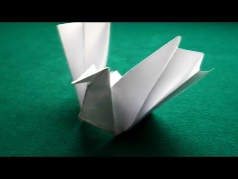 Origami - Paper Dove. Origami Tutorial.