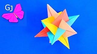 Оригами из бумаги ❤️ Кусудама из треугольников