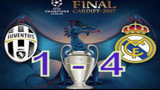 JUVENTUS vs REAL MADRID - 1 -4  FINAL UEFA Champions League/Full match 03/06/2017