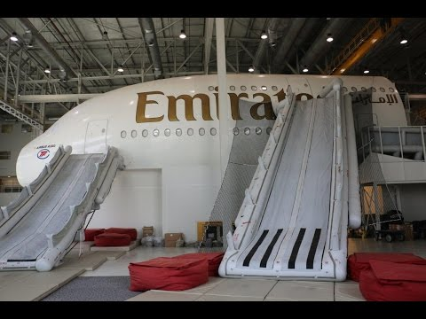 Exclusive behind the scenes at Emirates aviation College & academy crew training center in Dubai