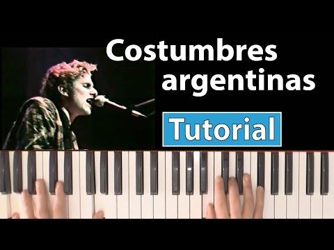 """Como tocar """"Costumbres argentinas""""(Los abuelos de la nada) - Piano tutorial y partitura"""