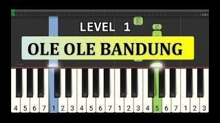not piano ole ole bandung - tutorial level 1 - lagu daerah nusantara - tradisional -  jawa barat