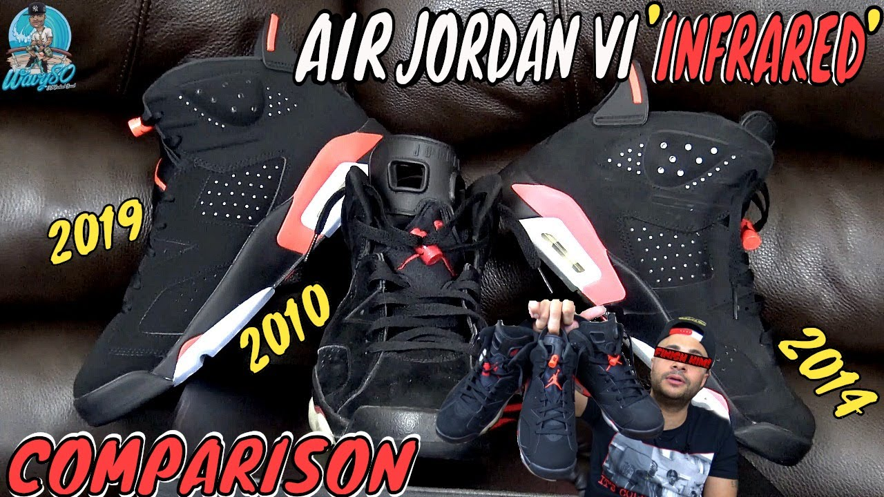 1edb8e60b73a AIR JORDAN 6 INFRARED COMPARISON