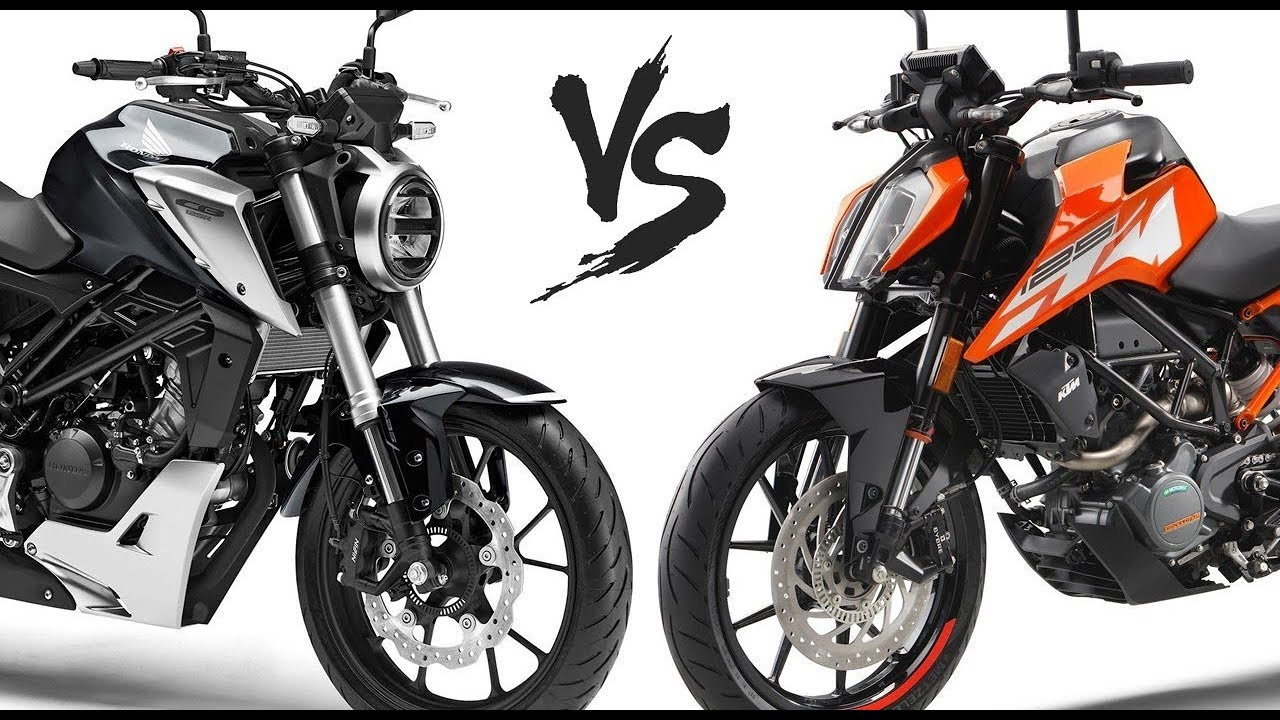 2018 honda cb125r vs ktm duke 125 comparison youtube. Black Bedroom Furniture Sets. Home Design Ideas