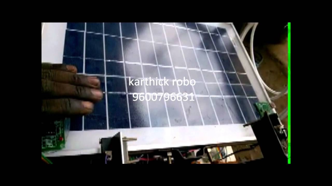 solar water desalination with solar tracker mechanical project