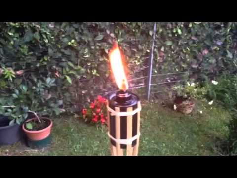 Antorchas de aceite youtube for Antorchas jardin