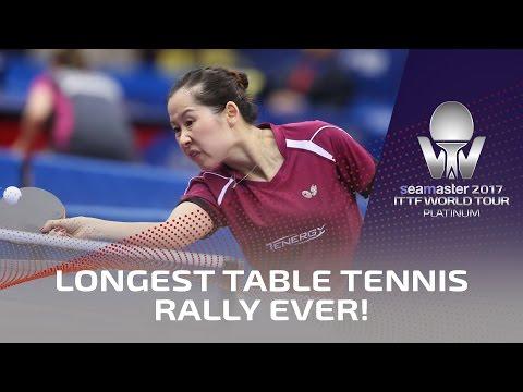 Longest Table Tennis Rally Ever!