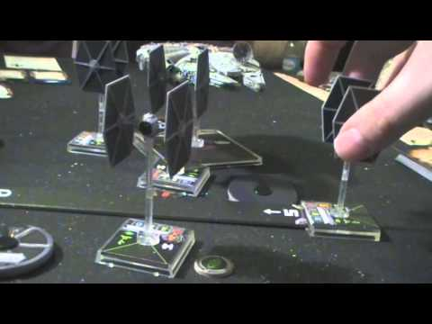 11th Legion Presents: X-Wing Miniatures Game: Millennium Falcon Unboxing & BatRep (3 of 4)