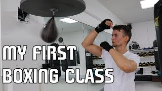 MY FIRST BOXING CLASS