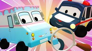 Die winzige Stadt -  Detektiv - Lerne mit den kleinen Trucks 👶 🚚 Lehrreiche Cartoons für Kinder