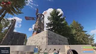 Rüzgar Türbini Elektrikli Evi , Patlayıcı Mermi ile Raidledik / Rust Survival Türkçe