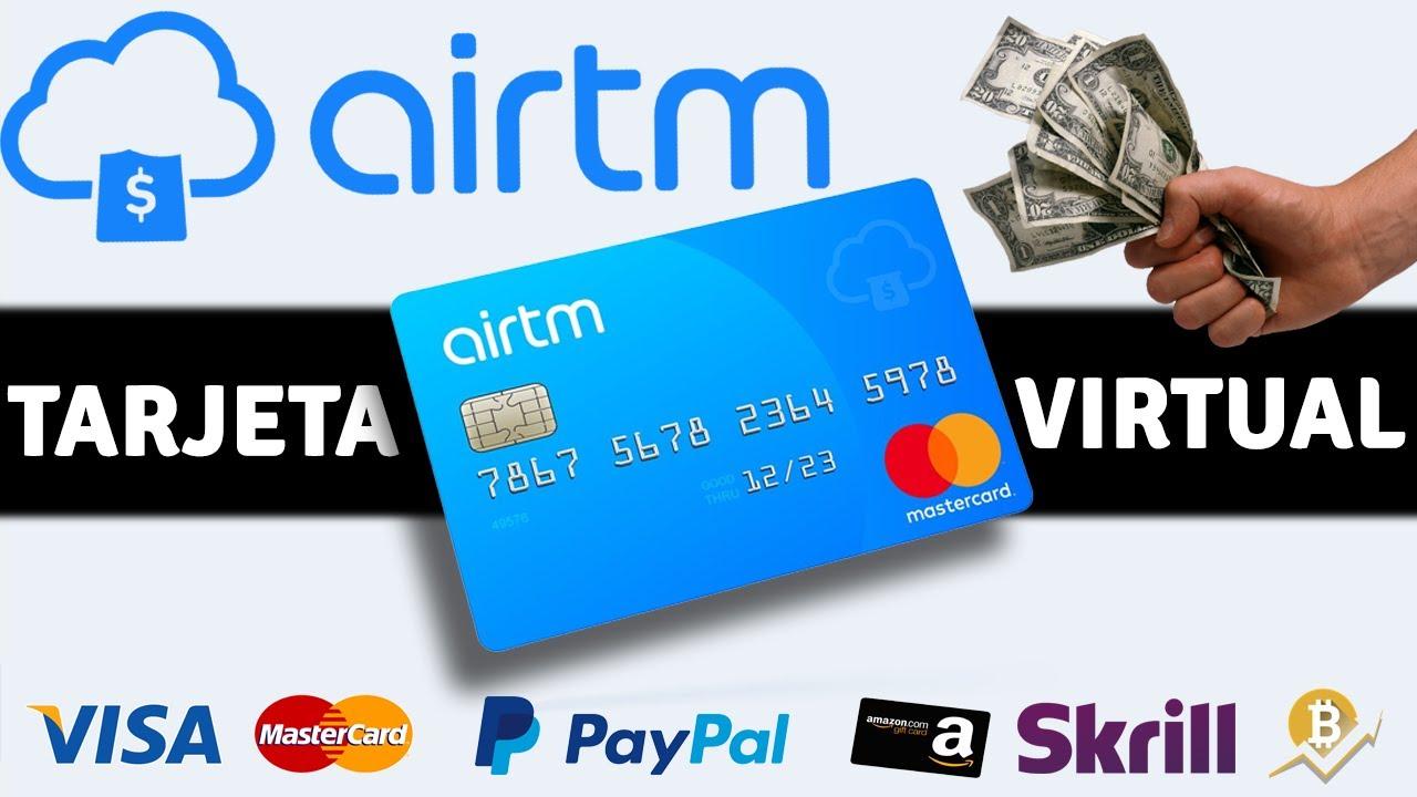 💳 Crear Tarjeta Virtual VISA MASTERCARD con DINERO de AirTM - YouTube