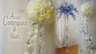 Dollar Tree Acrylic Centerpiece & Riser / Bridal Shower Decor