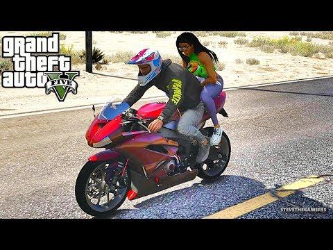 GTA 5 REAL LIFE MOD #287 - BIKE RACE (GTA 5 REAL LIFE MODS)