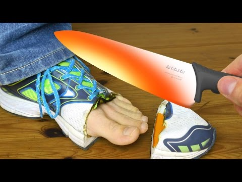 New Shoes? - Red Hot 1000 Degree Knife Vs Shoe and More