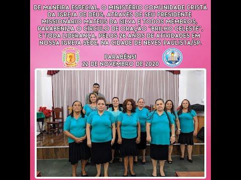 """Parabéns Circulo de Oração """"Brilho Celeste"""", pelos 26 anos. 22/11/2020"""