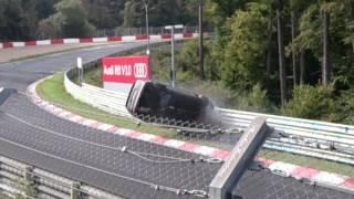 Nurburgring Nordschleife 28.09.2014 Opel Kadett Gsi Crash Planzgarten Rollover Uberschlag