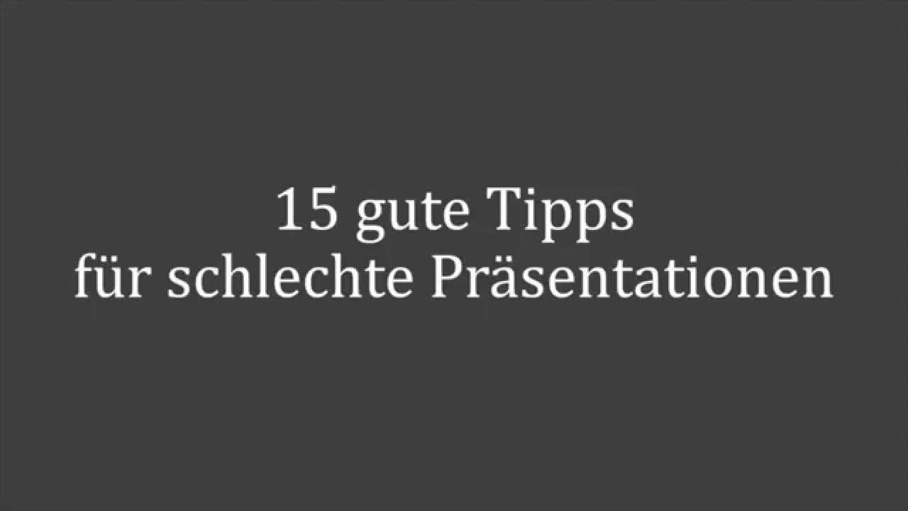 15 gute tipps f r schlechte pr sentationen youtube. Black Bedroom Furniture Sets. Home Design Ideas