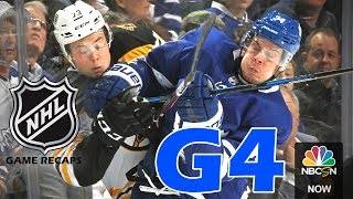 Boston Bruins vs Toronto Maple Leafs. 2018 NHL Playoffs. Round 1. Game 4. 04.19.2018 (HD)