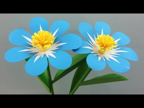 How to Make Beautiful Paper Flowers - Flower Making of Colored Paper - Paper Flower Tutorial
