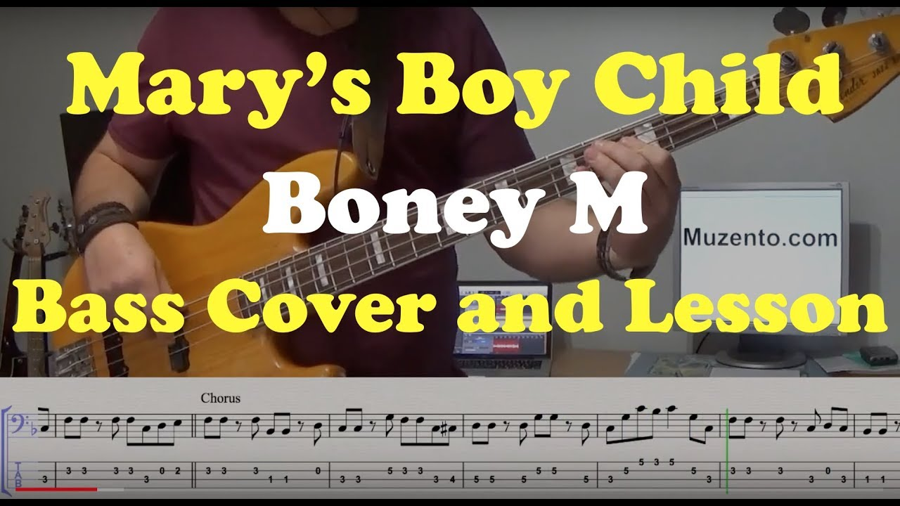 Download Mary's Boy Child - Bass Cover and Lesson