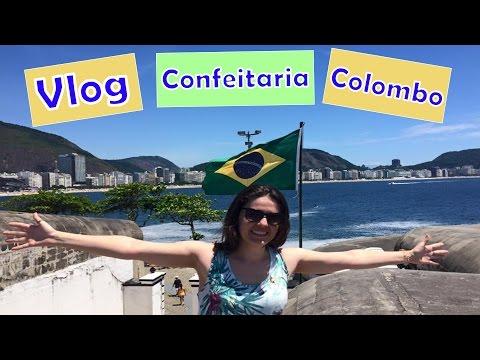 Vlog Café da Manhã  - Confeitaria Colombo  - RJ