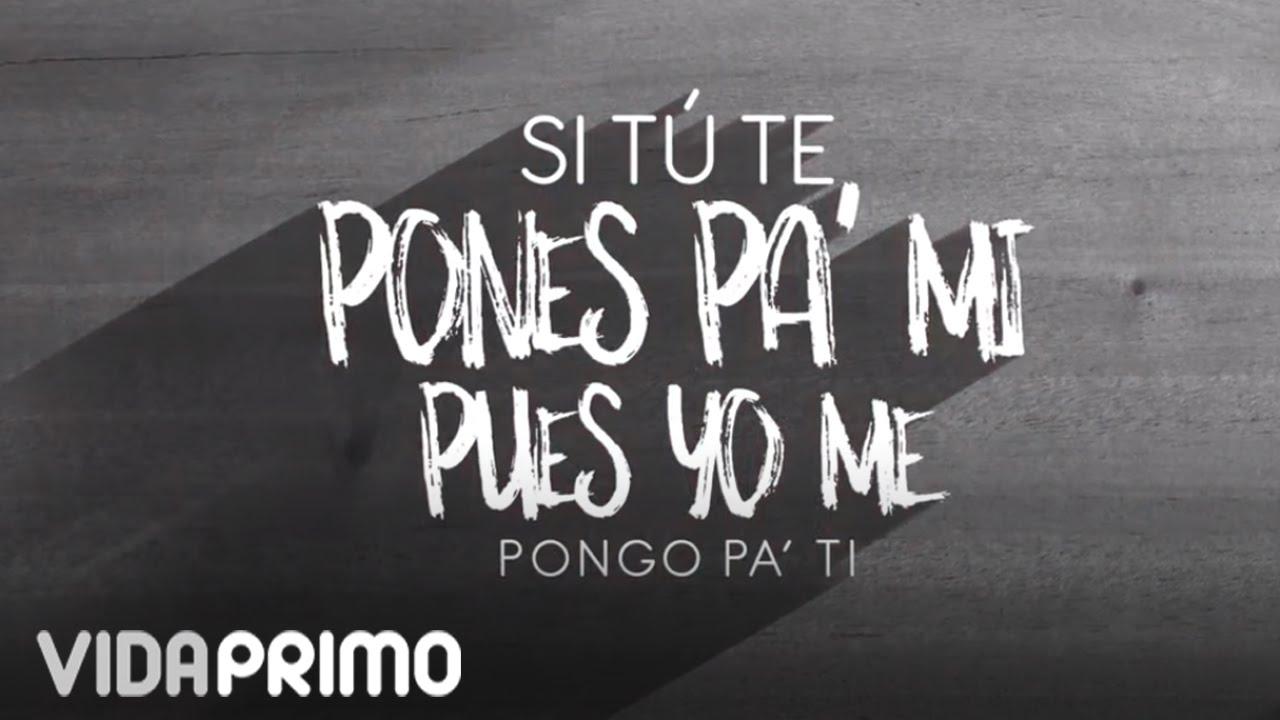 Nejo Ponte Pa Mi Ft Jamby El Favo Mr D Lyric Video Youtube