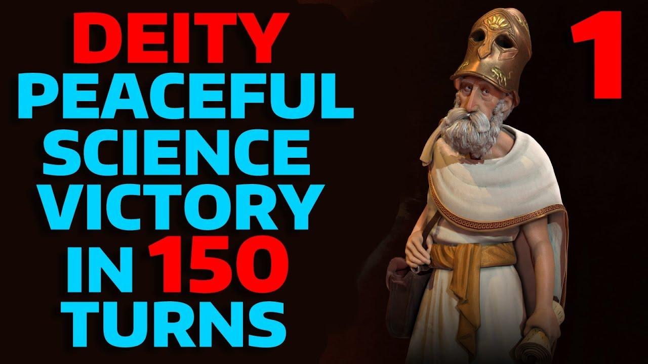 Civ 6 - T150 Peaceful DEITY Science Victory - Part 1