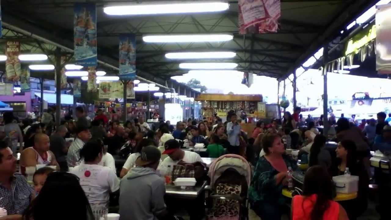 San pedro fish market restaurant youtube for Fish market san pedro