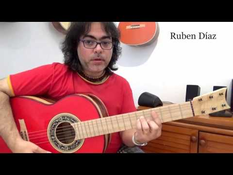 Training (1) melody over chords /Learning modern flamenco guitar online / Ruben Diaz Spain / CFG