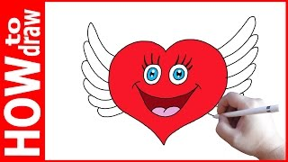 How to draw Cute Heart with Wings, Как нарисовать сердечко(INSTAGRAM: https://www.instagram.com/dmitrysyrman/ Я в ВКОНТАКТЕ: http://vk.com/syrman_d Группа в ВКОНТАКТЕ: http://vk.com/public59608073 I'm on ..., 2016-12-14T06:34:51.000Z)
