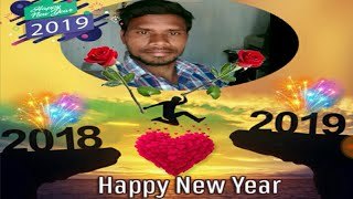 PicsArt Happy New year 2019 photo Editing tutorial in photo frame step by step I... telugu||JE