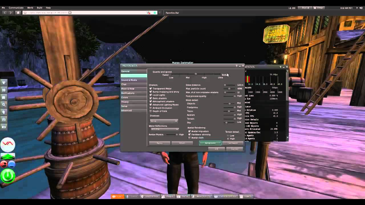 play second life in browser