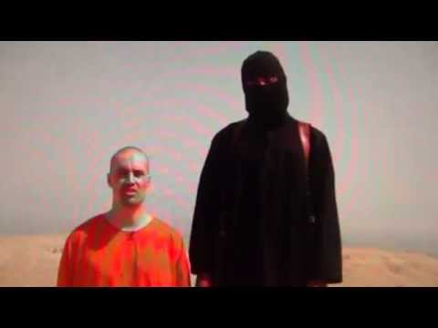 James Foley Scam shows green US Farmland Horizon behind Jesuit Fake Decapitation-Beheading