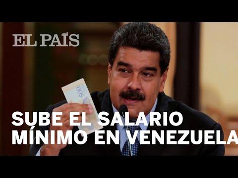 VENEZUELA   Nicolás Maduro anuncia que multiplicará por 34 el valor del salario mínimo