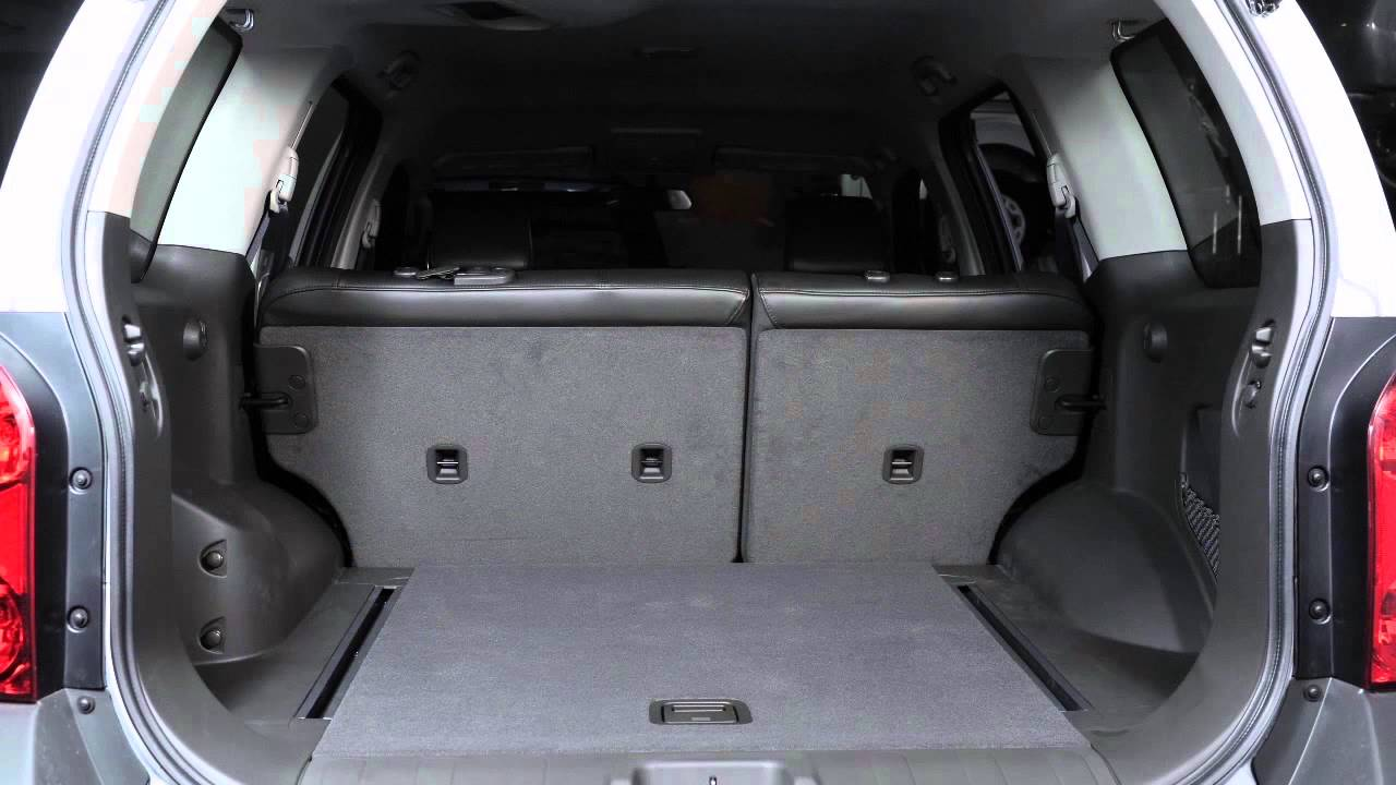 2015 Nissan Xterra Folding Rear Seats Youtube