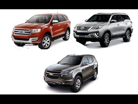 Fortuner vs Trailblazer vsFord everest  YouTube
