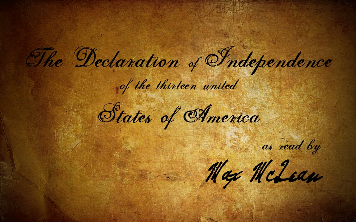 The Declaration Of Independence As Read By Max Mclean Youtube