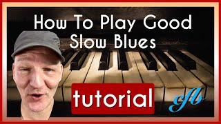 Blues Piano lessons. Extra slow blues Piano for students to read along.Vol.2