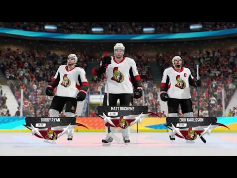 NHL 18 Threes Gameplay Ottawa Senators vs. Philadelphia Flyers
