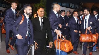 Indian Team Leaves For WORLD CUP 2019 In England | Dhoni, Virat Kohli, Hardik Pandya And More
