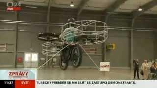 ČT24 záznam - Létající kolo se vzneslo v pražských Letňanech!