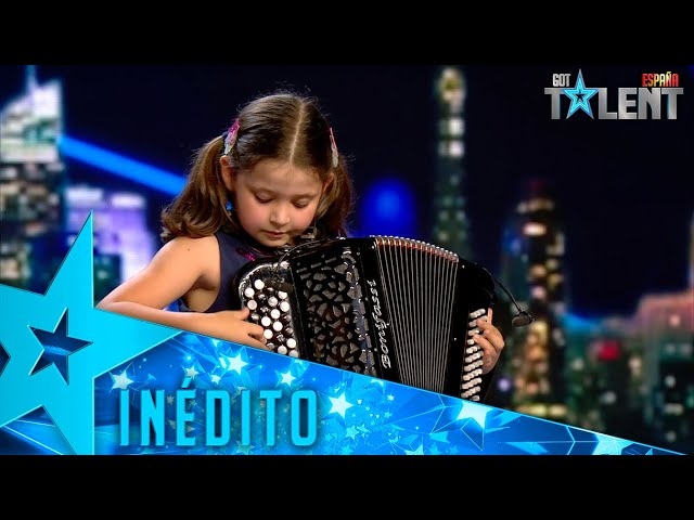 Esta niña toca un tema de THE ROLLING STONES con un ACORDEÓN   Inéditos   Got Talent España 2021
