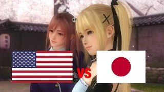 DOA5LR English Vs Japanese Voice Comparison - TAG EDITION! - (Part 2 - Cute Characters)