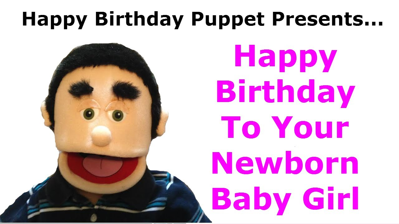 Funny Happy Birthday Newborn Baby Girl Congratulations Birthday