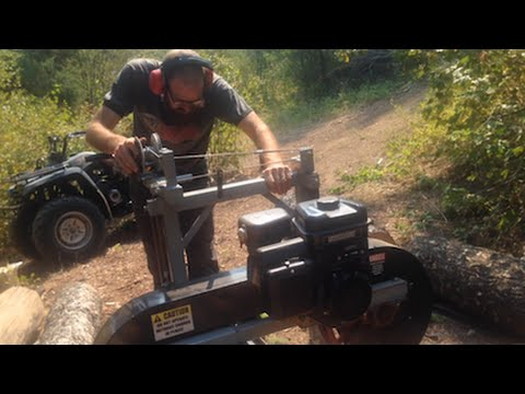Portable Bandsaw Mill Demo