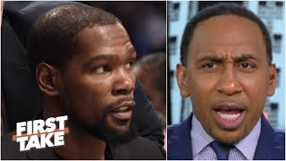 Stephen A. to Kevin Durant: 'Nobody wants to hear any excuses' from the Nets next season |First Take