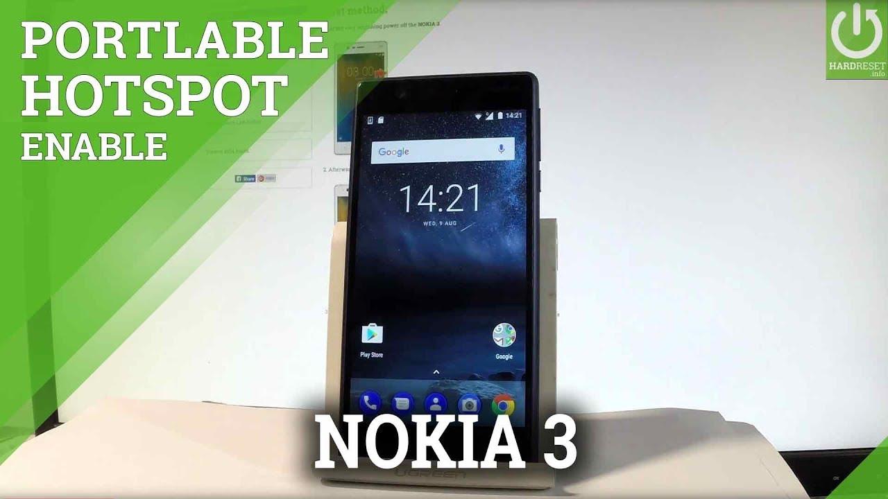 How To Set Up Mobile Hotspot On Nokia 3 Create Wifi Hotspot Youtube